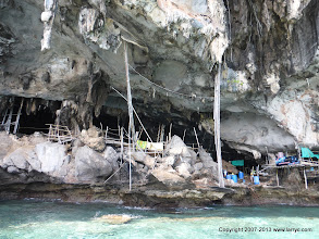 Photo: The (in)famous 'Viking Cave' on Phi Phi Le.