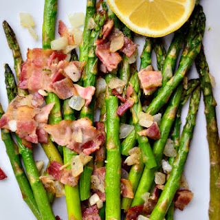 Asparagus with Bacon and Shallots + Asparagus Roundup.