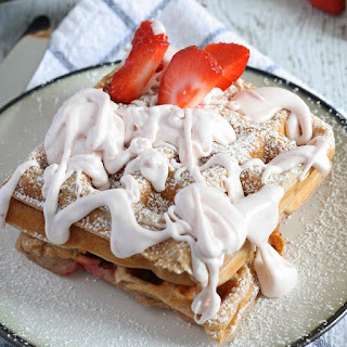 Strawberry Waffles with Homemade Strawberry Whipped Cream