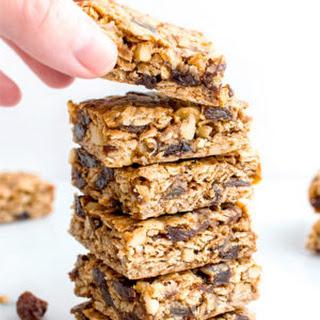 Oatmeal Raisin Cookie Bars (Vegan, Gluten Free)