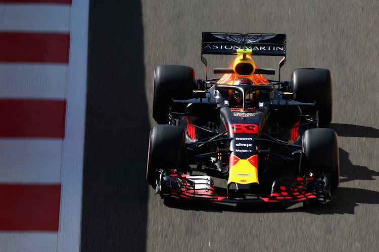 Max Verstappen setting the pace at Yas Marina