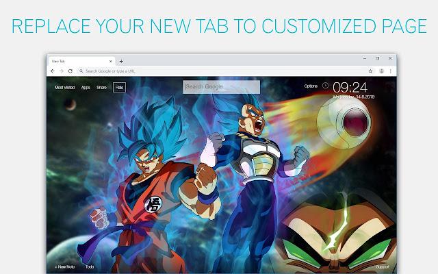 Dragon Ball Super Broly HD Wallpapers New Tab