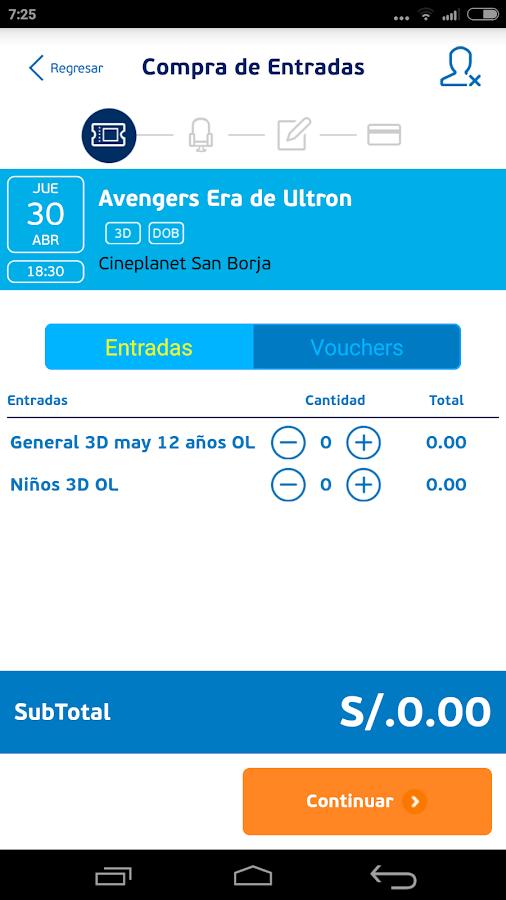 Cineplanet- screenshot