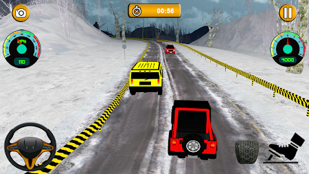 Offroad Jeep - Extreme Mountain Snow Driving APK screenshot thumbnail 6