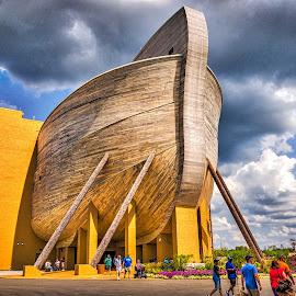HDR Stern by Pat Lasley - City,  Street & Park  Amusement Parks ( amusement park, noah, ship, noah's ark, boat, ark )
