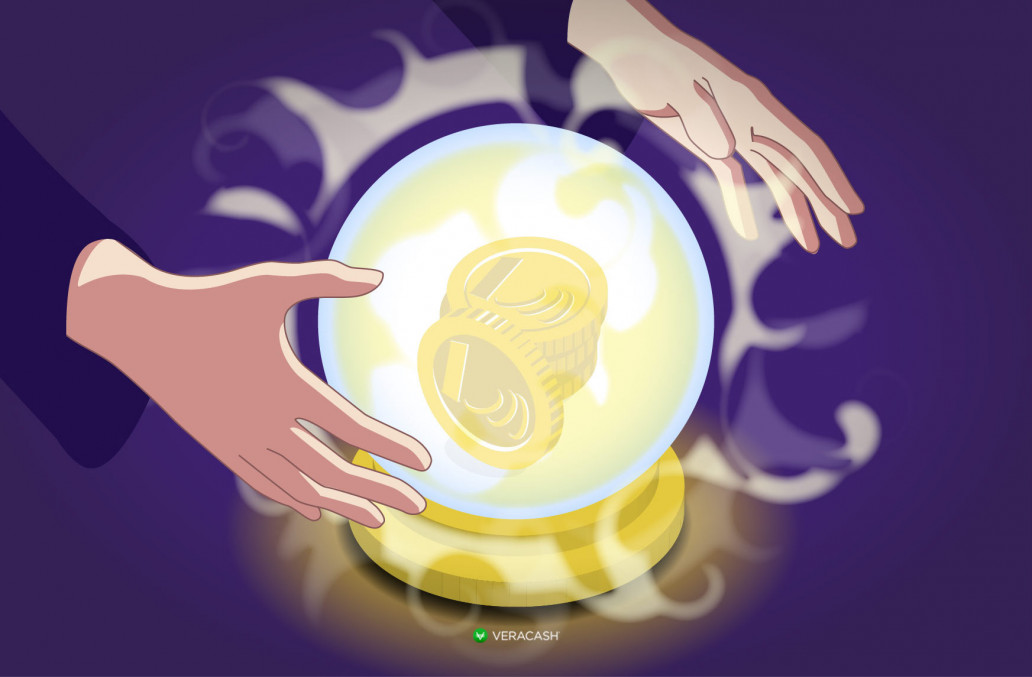 Veracash, boule de cristal et or