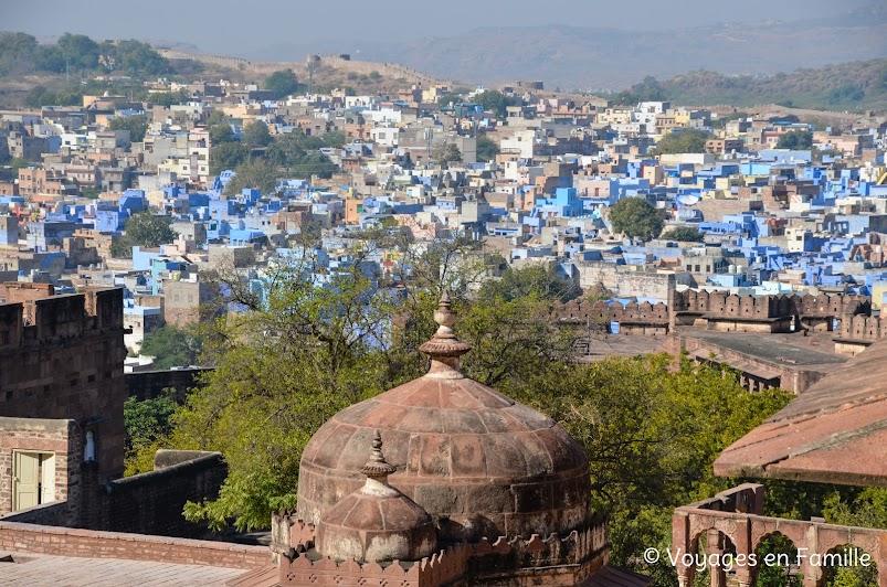 Vue sur Jodhpur depuis Mehrangarh