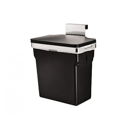 Inbyggnadssophink med lock för bänkskåp, Simplehuman 10 liter
