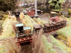 Photo: 017 An alternate view of Rod Allcock's tiny Ruston & Hornsby diesel loco. This time the loco is out of focus instead of the tippers! Apologies .