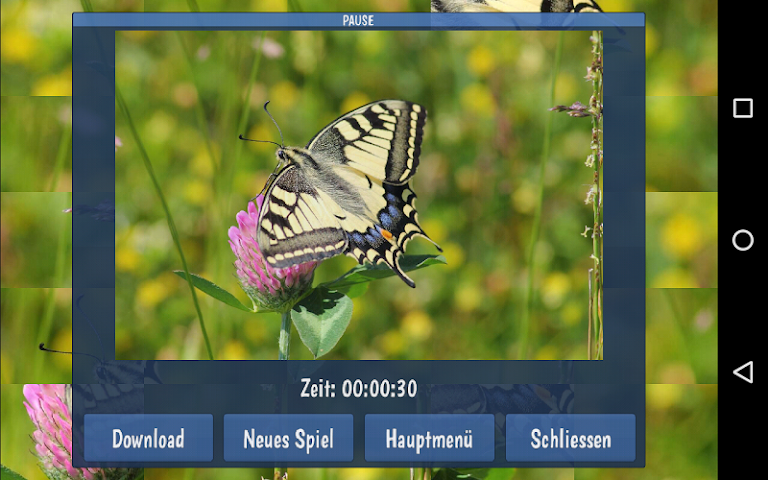 android Tile Puzzles · Butterflies Screenshot 6