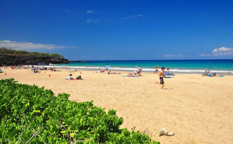 Hapuna Beach on the Big Island of Hawaii.