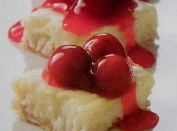 Coconut - Cherry Cream Squares