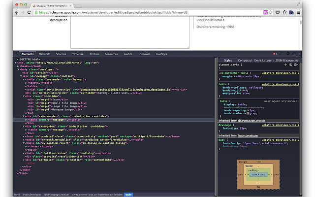 Dracula Theme for DevTools