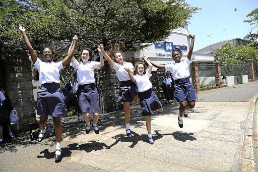 The joy of passing exams will soon be replaced by the stress of the job hunt for some of these Durban matrics. / Jackie Clausen