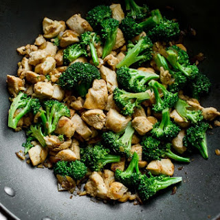 Healthy Chicken Breast and Broccoli Stir Fry.