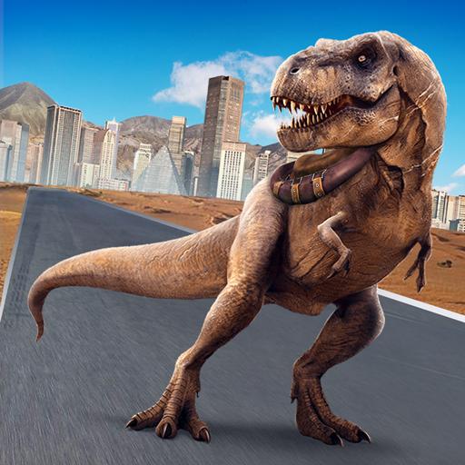 Dinosaur SIM: Urban Destroyer Android APK Download Free By Fun Blocky Games