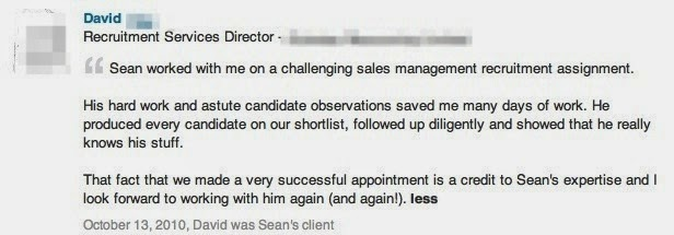 """Photo: Recommendation for Sean Durrant from an Executive Search & Selection company that approached me to assist in the search for a specialist Sales role.  This particular sales job was based in the Midlands for a Mechanical Engineering company.  To find just the right mix of skills I searched a variety of databases and drew up shortlist of 4 candidates. 3 were interviewed and selected for second interview, with one being appointed and joining the organisation.  The Recruitment Services Director said """"Sean [Durrant] worked with me on a challenging sales management recruitment assignment.  His hard work and astute candidate observations saved me many days of work.  He produced every candidate on our shortlist, followed up diligently and showed that he really knows his stuff.  That fact that we made a very successful appointment is a credit to Sean's expertise and I look forward to working with him again (and again!)"""""""