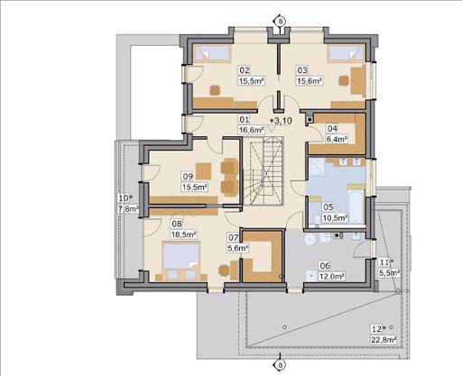 AJR 26 A - Rzut piętra