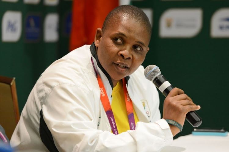 South Africa's Chef de Mission, Patience Shikwambana, during the Team South Africa press conference at Copthorne Tara Hotel on July 27, 2012 in London, England.