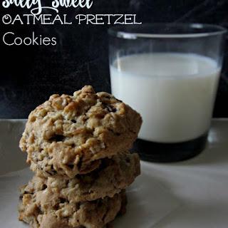Salty Sweet Oatmeal Pretzel Cookies