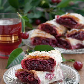 Sour Cherry Phyllo Pie Recipe