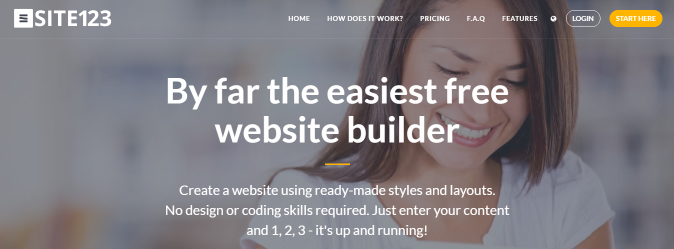 Create Your Own Website With SITE123