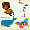 Let's learn! Animals icon