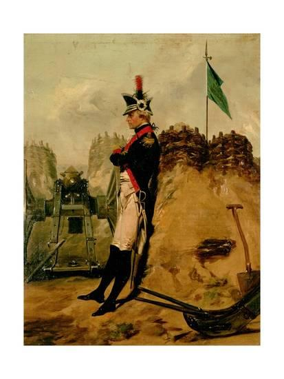 Hamilton in the uniform of the New York artillery. Painting by Alonzo Chappel.