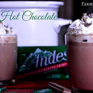Crock Pot Andes Mint Hot Chocolate.