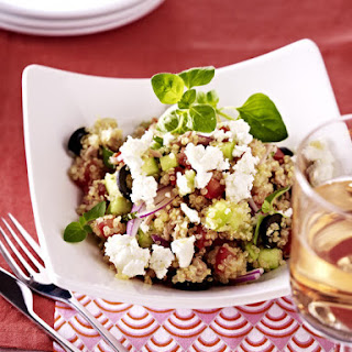 Quinoa Salad with Feta Tuna and Olives