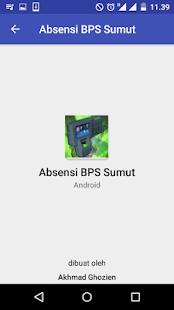 Absensi BPS Sumut - náhled