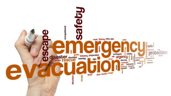 image of emergency related words