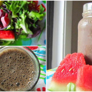 Watermelon Strawberry Greens Smoothie