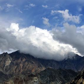 clouds covering mountains - Pakistan by Assam Khan - Landscapes Cloud Formations ( clouds, hills, pakistan, mountains, gilgit )