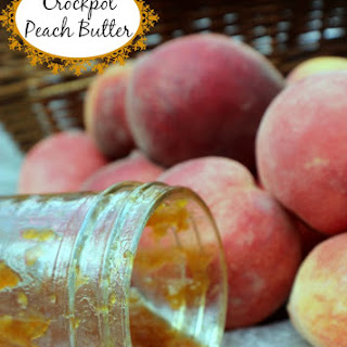 Crock Pot Peach Butter.