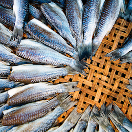 Fish In The Market by Steven De Siow - Food & Drink Meats & Cheeses ( abstract art, fish, pattern, abstract, abstract photography )