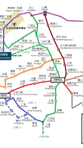 桃園捷運路線圖