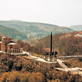 Veliko Tarnovo-Bulgaria by Stoyan Katinov - Buildings & Architecture Statues & Monuments ( veliko, monument, road, tarnovo, wall, bulgaria )