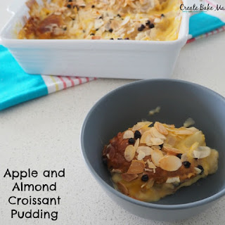 Apple and Almond Croissant Pudding