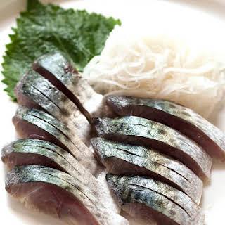 Shime Saba (Cured Mackerel).