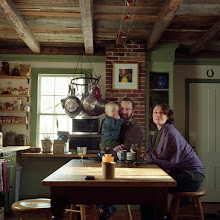 Photo: title: Noah & Oscar Barnes & Jane Barrett, Rockland, Maine date: 2010 relationship: friends, art, met through Chicky Stoltz years known: 10-15