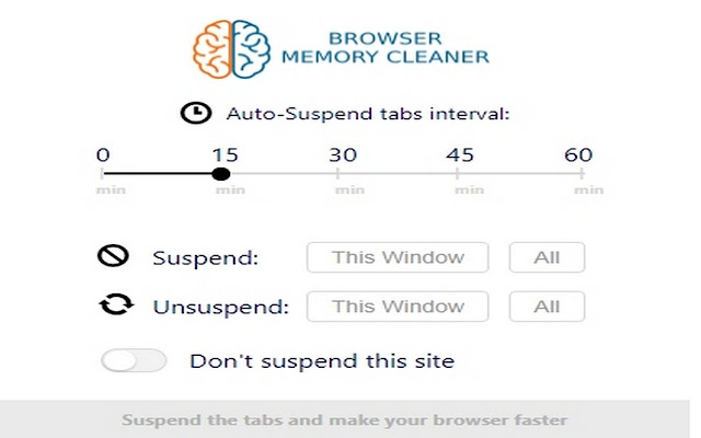 Browser memory cleaner