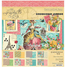 Graphic 45 Double-Sided Paper Pad 8X8 24/Pkg - Ephemera Queen