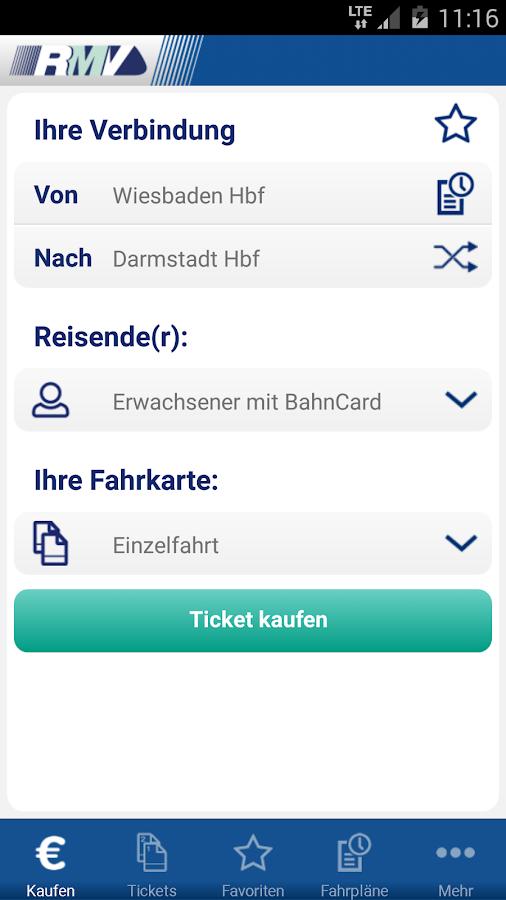 RMV Rhein-Main-Verkehrsverbund- screenshot