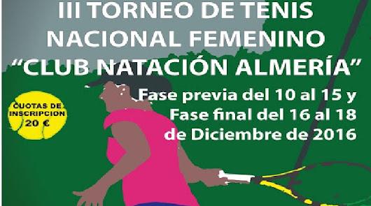 Torneo de Tenis Nacional Femenino CN Almería
