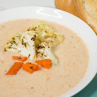 Roasted Cauliflower Carrot Soup Recipe