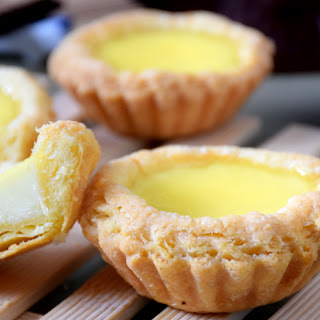 Egg Tart Recipe With Chinese Puff Pastry.