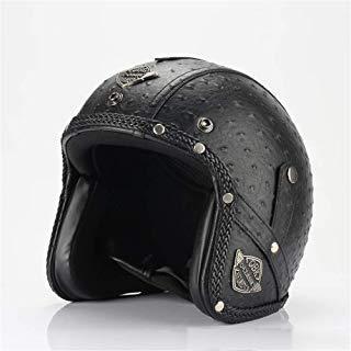 Casco del Motorista De Harley-Davidson, Casco Retro Hecho A Mano De La Motocicleta, Casco con La Máscara, Casco De La Bici De Montaña