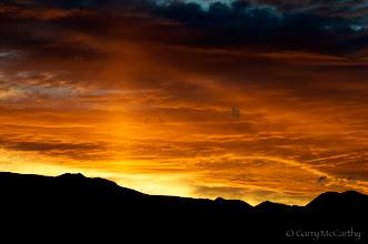 Photo: Eastern Sierra Sunset with Sun Pillar  #SunriseSaturday