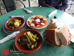 Photo: our lunch in Walili (Volubilis) - a traditional Moroccan food tajin... yummy!